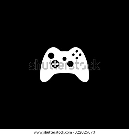 Gamepad. Simple flat icon. Black and white. Vector illustration - stock vector