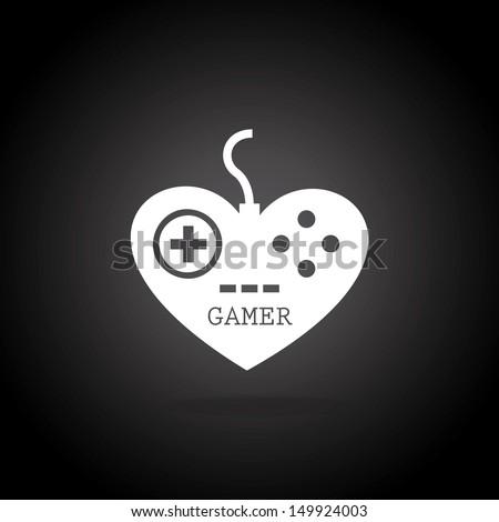 gamer control over black background vector illustration  - stock vector