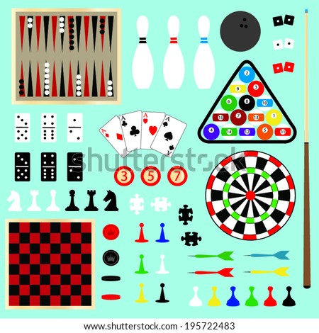 Games Clip Art - stock vector