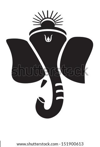 Ganesha or Ganesh Hindu God. - stock vector