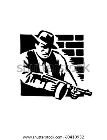 Gangster - Retro Clip Art - stock vector