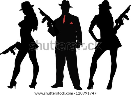 gangsters - stock vector