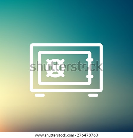 Gar burner icon thin line for web and mobile, modern minimalistic flat design. Vector white icon on gradient mesh background. - stock vector