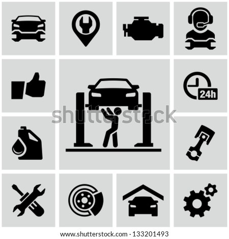 Garage icons - stock vector