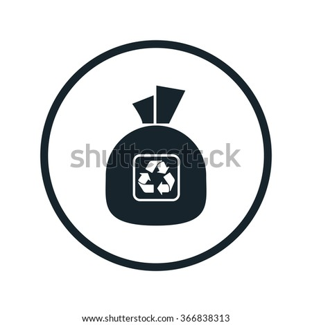 garbage bag icon - stock vector