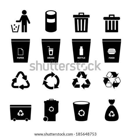 Garbage Icon - stock vector