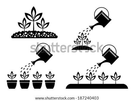 Garden icons    - stock vector