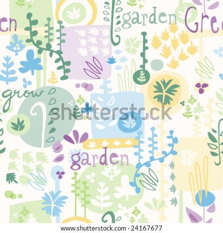 Garden Pattern - stock vector