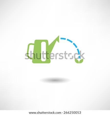 Garden watering icon - stock vector
