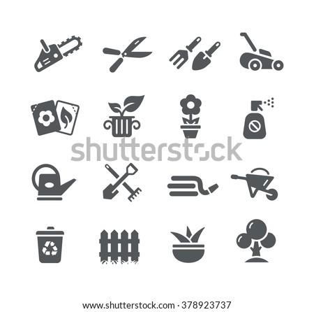 Gardening Icons // Utility Series - stock vector