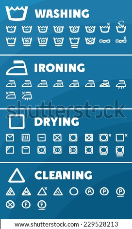 garment care icons - stock vector
