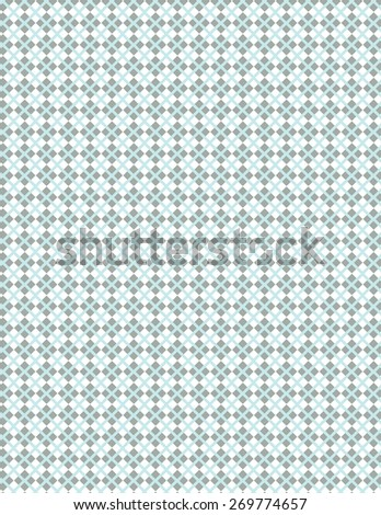 Gary squares with blue line pattern over white background - stock vector