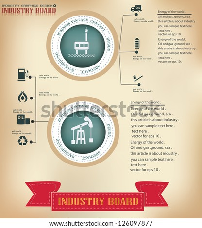 Gas and oil,graphics design,sign,vector - stock vector