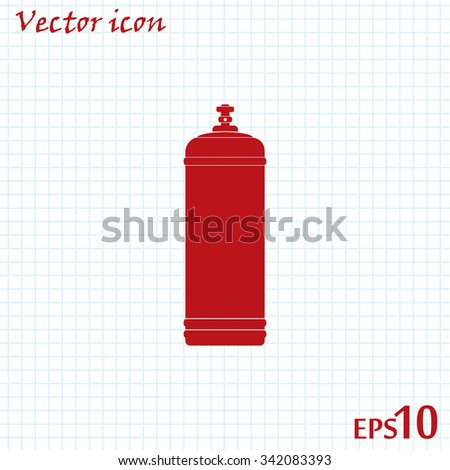Gas bottle vector icon - stock vector