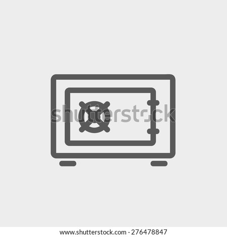 Gas burner icon thin line for web and mobile, modern minimalistic flat design. Vector dark grey icon on light grey background. - stock vector
