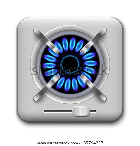 Gas burner icon. Vector illustration. - stock vector