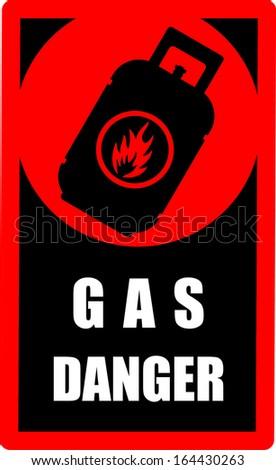 Gas, danger, vector - stock vector