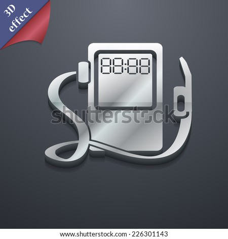 Gas, fuel station icon symbol. 3D style. Trendy, modern design with space for your text Vector illustration - stock vector