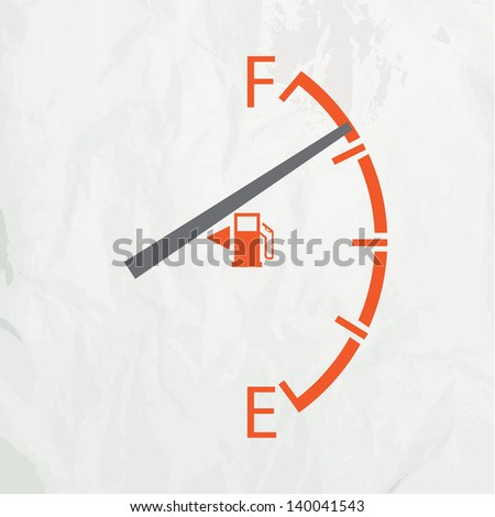Gas gage isolated on a white background - stock vector