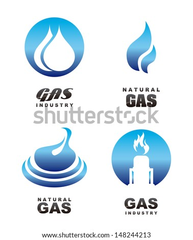 gas icons over white background vector illustration  - stock vector