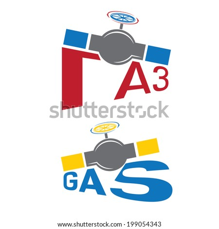 gas industry illustration - stock vector