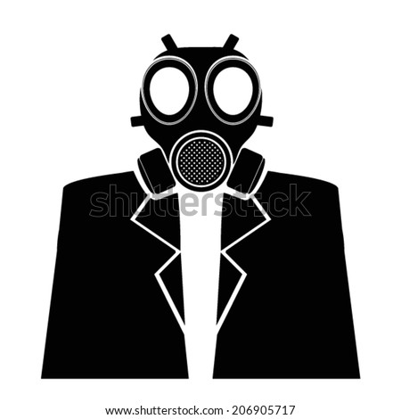 gas mask with suit - stock vector