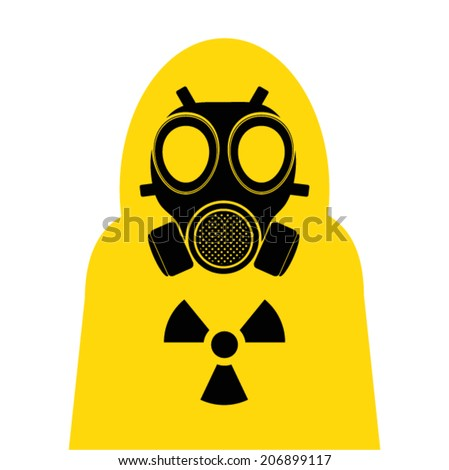 gas mask Yellow  suit cover  - stock vector