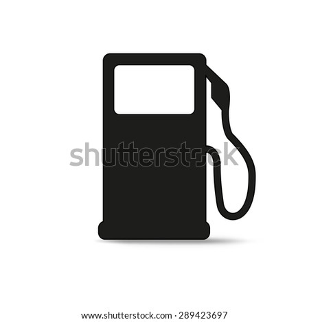 gas pump icon isolated on  white background - stock vector