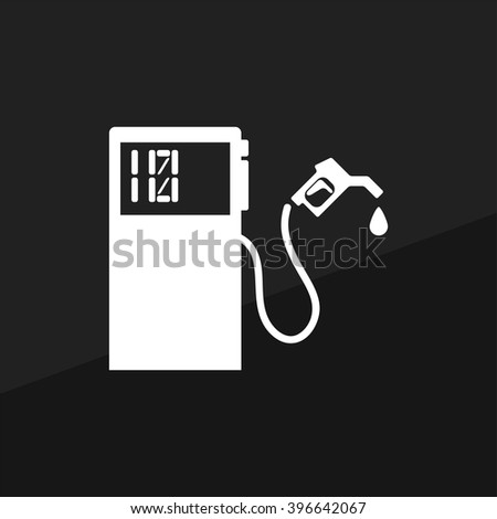 Gas Station. EPS 10 Flat Icon. Vector Illustration. - stock vector