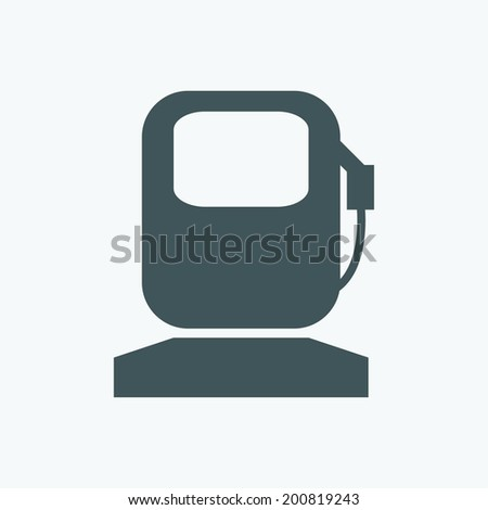gas station icon - stock vector