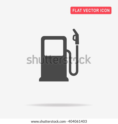 Gas station icon. Vector concept illustration for design. - stock vector