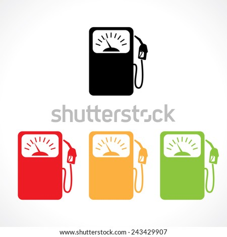 gas station icons - stock vector