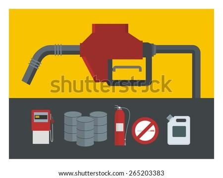 gas station illustration - stock vector