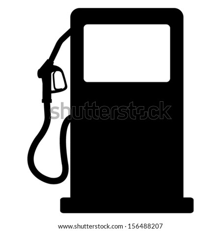 gas station sign - stock vector
