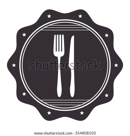 Gastronomy and restaurant menu graphic design, vector illustration eps10 - stock vector