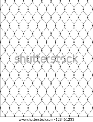 Gate pattern - stock vector