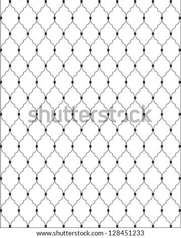 Gate pattern - stock vector