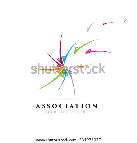 Gathering Community Icon Logo Template - stock vector