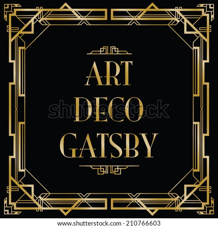 gatsby art deco background - stock vector