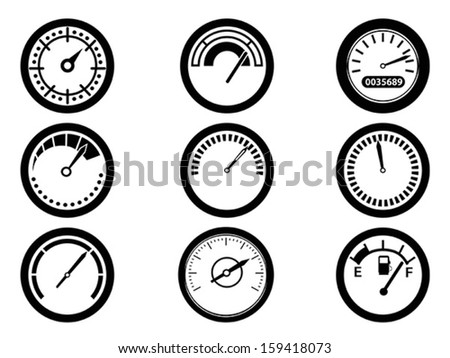 gauge icons  - stock vector