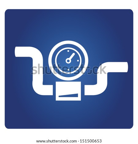 gauge, industrial valve symbol - stock vector