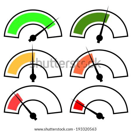 Gauges, meters vector template. - stock vector