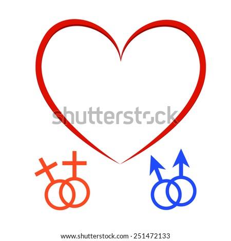 Gay couple, gay love icons set - stock vector