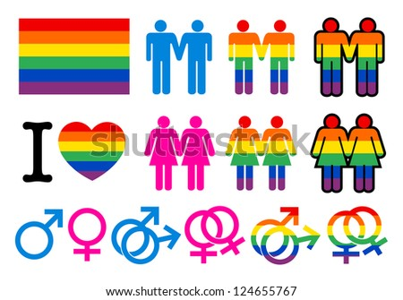 Gay pictogrammes - stock vector