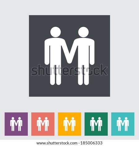 Gay sign. Single flat icon. Vector illustration. - stock vector