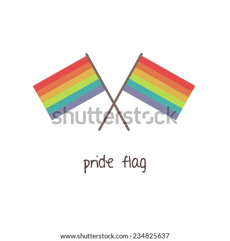 gay vector flag or LGBT vector flag. gay culture symbol. - stock vector