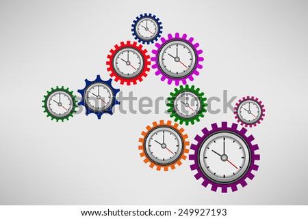 Gear clock - stock vector