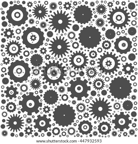 Gear cog wheels background. Grey vector illustration on white background. - stock vector