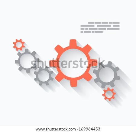Gear design - stock vector