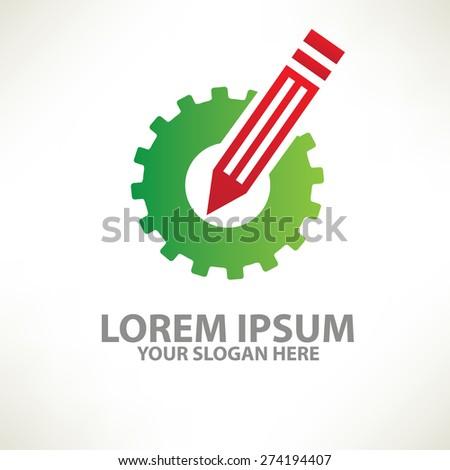 Gear design,logo template,clean vector - stock vector